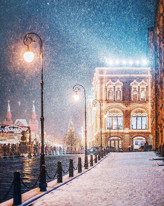Зима на московских улицах