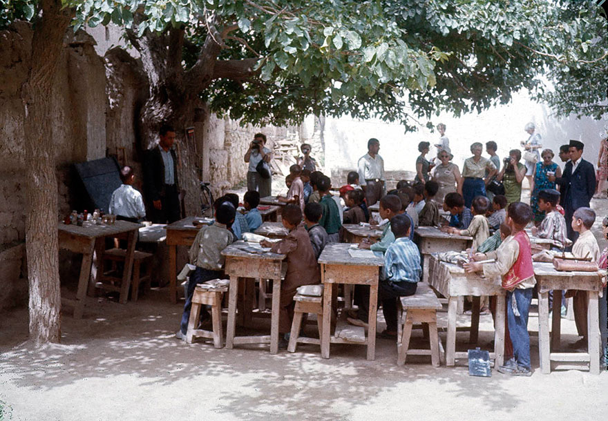 Школа под открытым недом