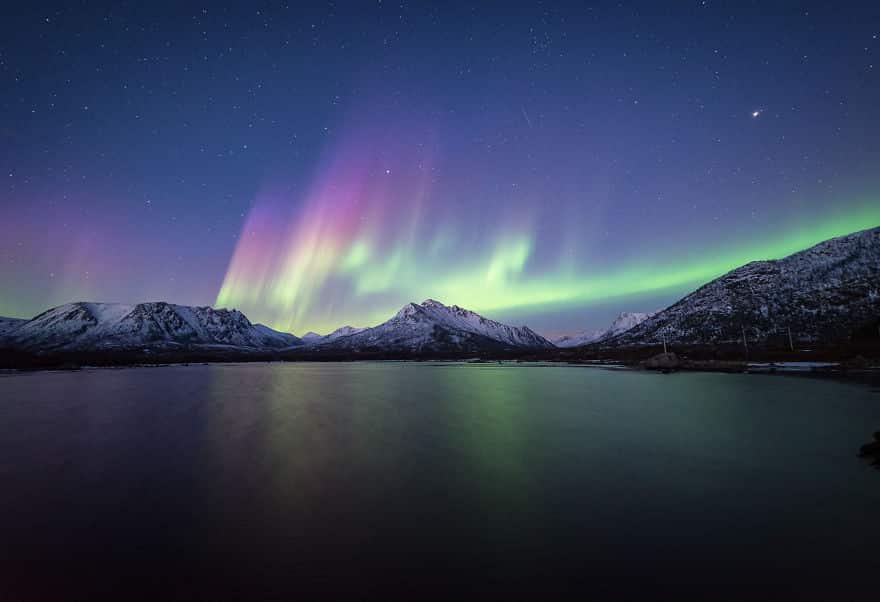 Северное сияние в атмосфере