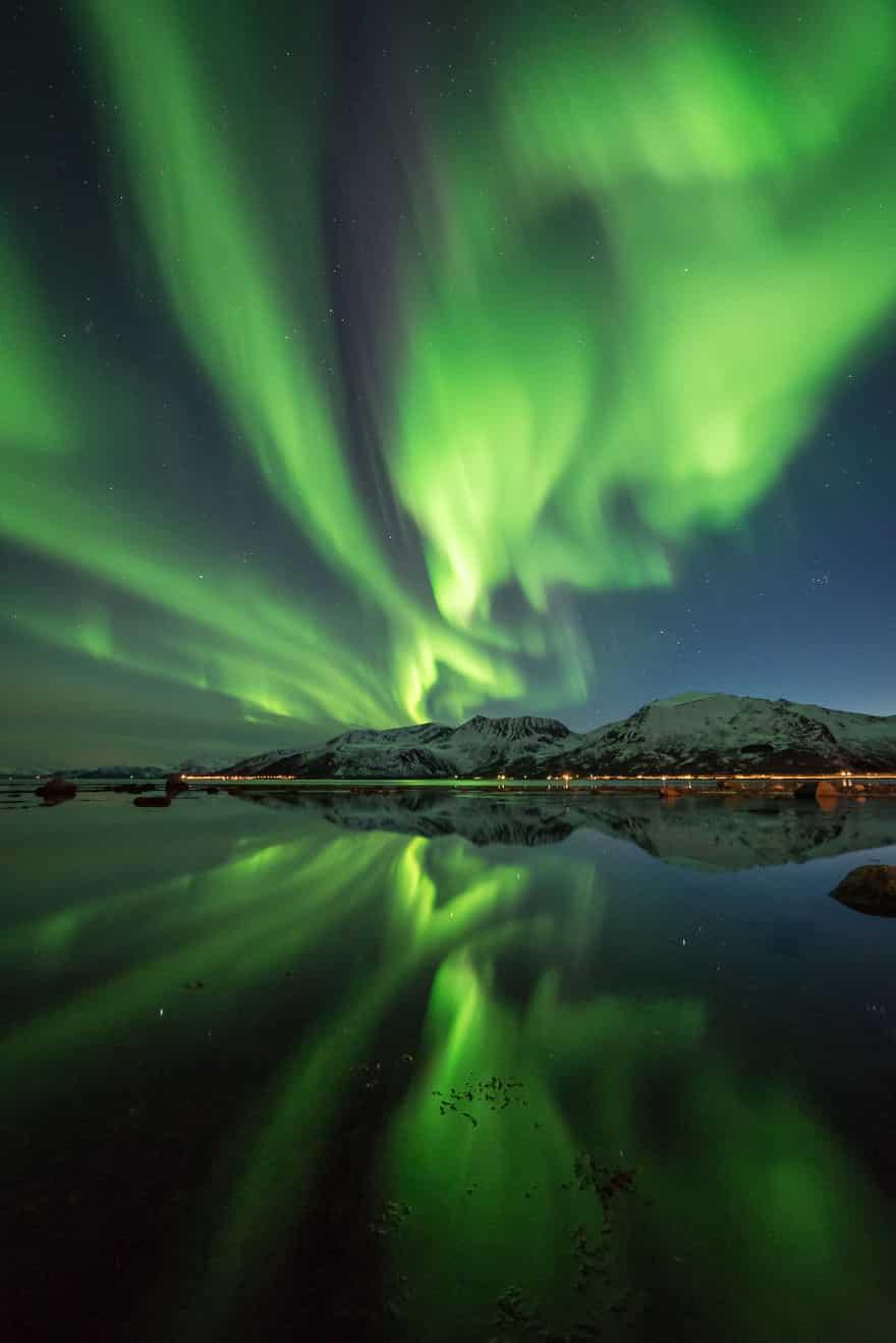 Северное сияние в Скандинавии