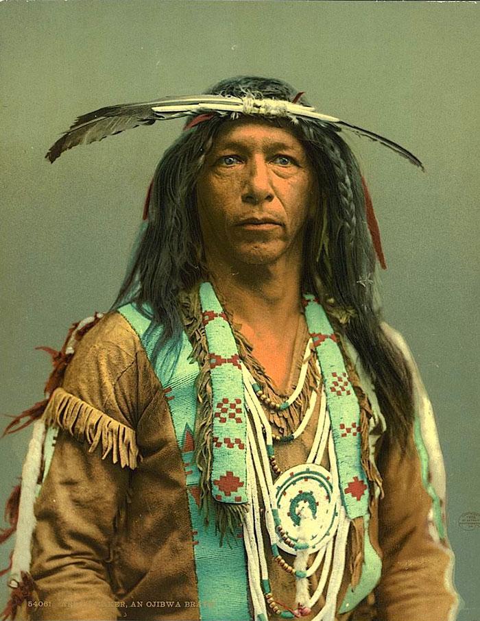 Простой воин индейского племени