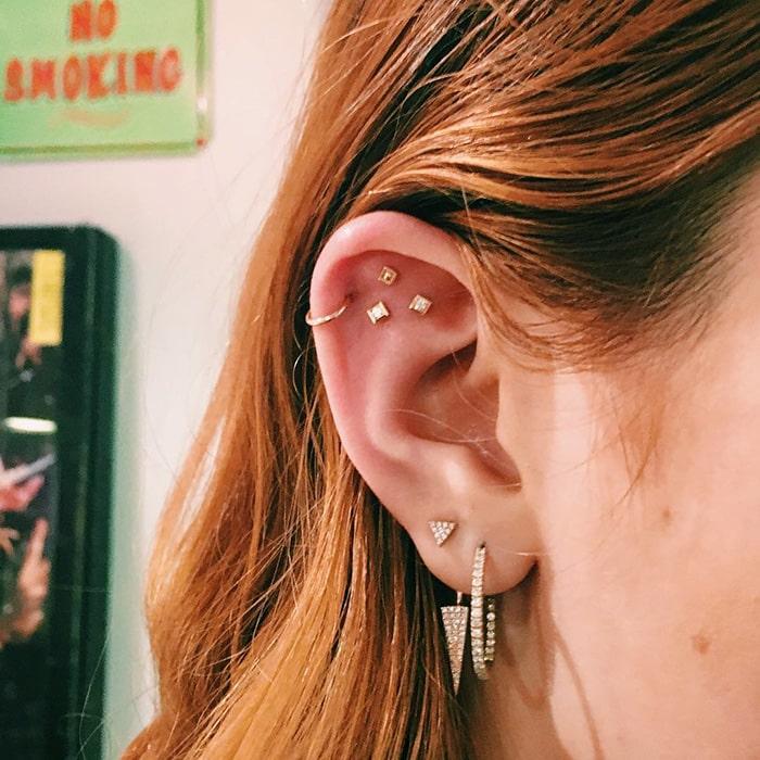 Звезды в ушах