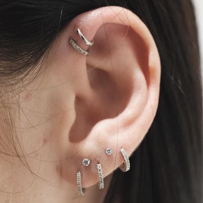 Колечки на ушной раковине