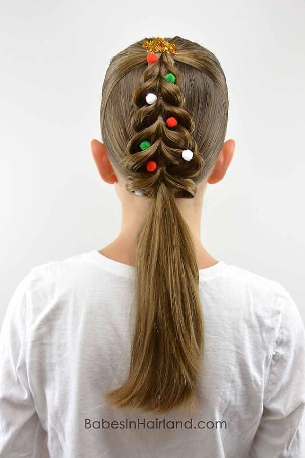 Оригинальное плетение волос