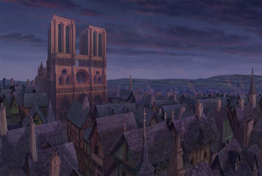 Дворец в мультфильме