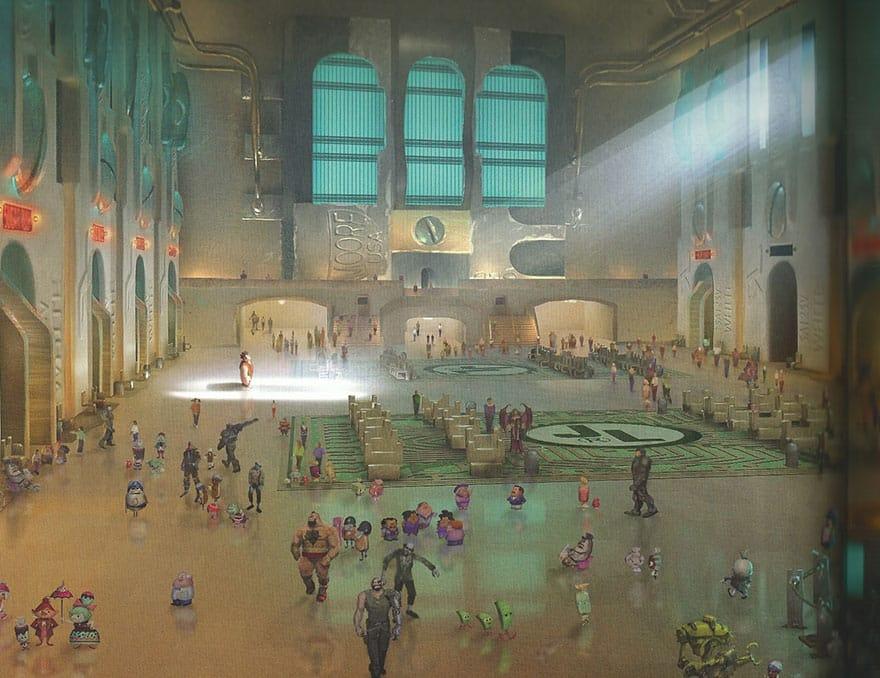 Нью-йоркский вокзал в мультфильме