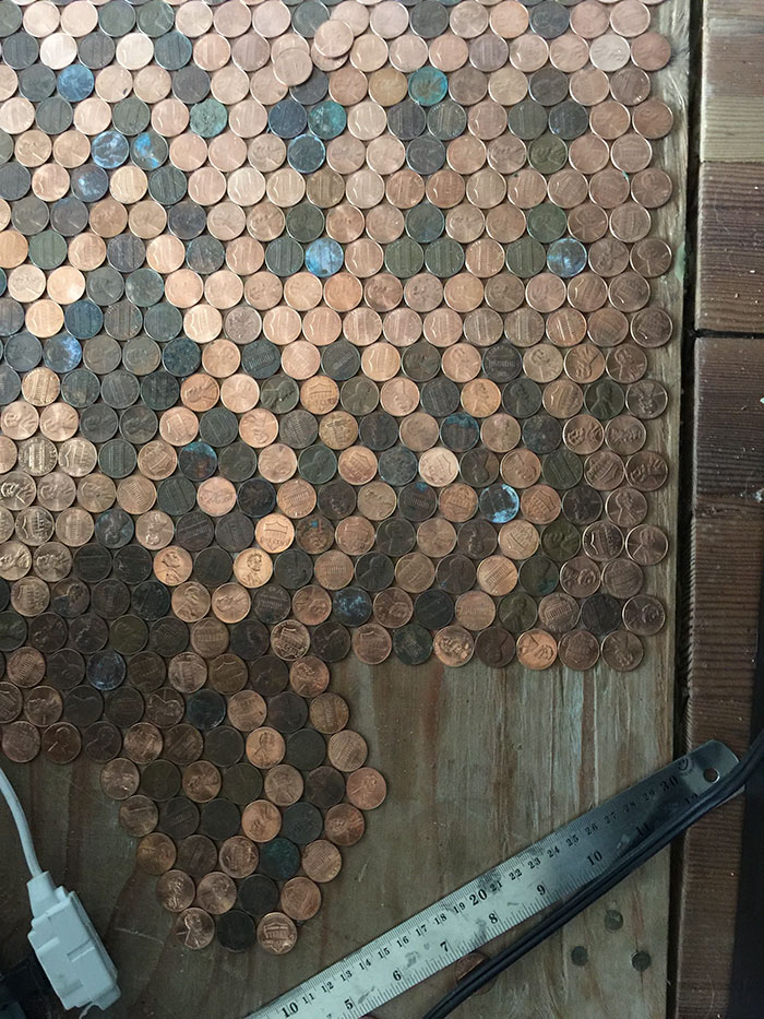 Раскладка монет под ногами