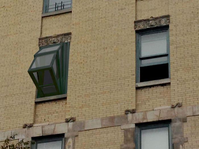 Внешний вид окна с улицы