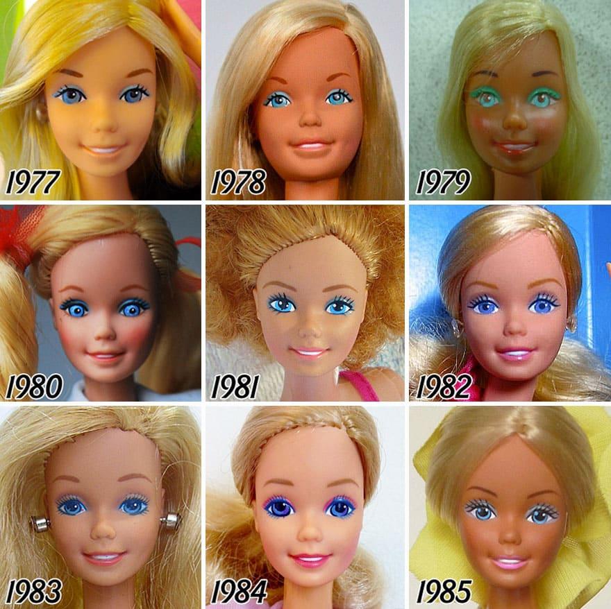 Изменения с возрастом у Барби
