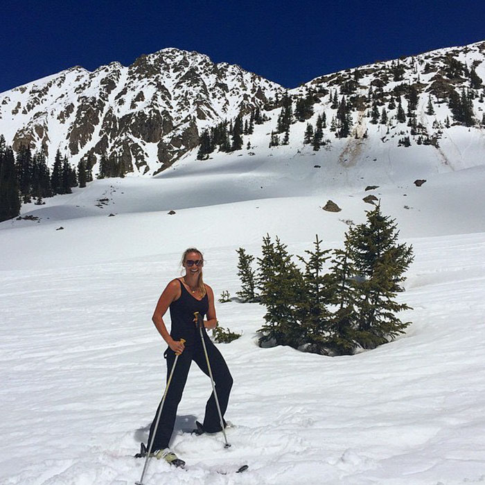 По снегу в Колорадо
