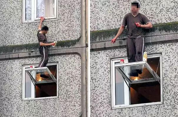 С риском на окне