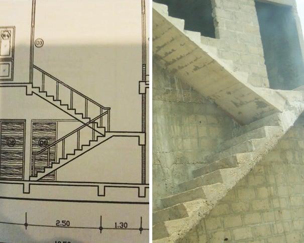 Лестница с ограничением