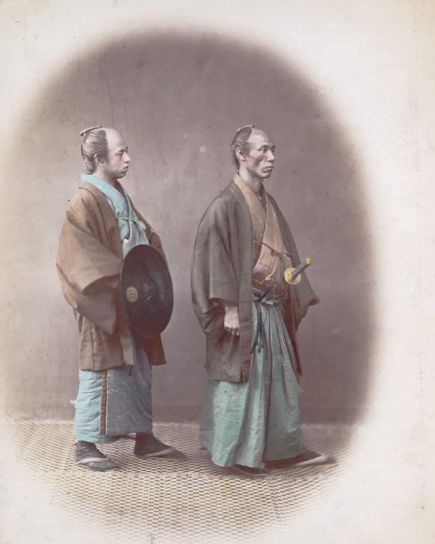 Самурай со своим слугой