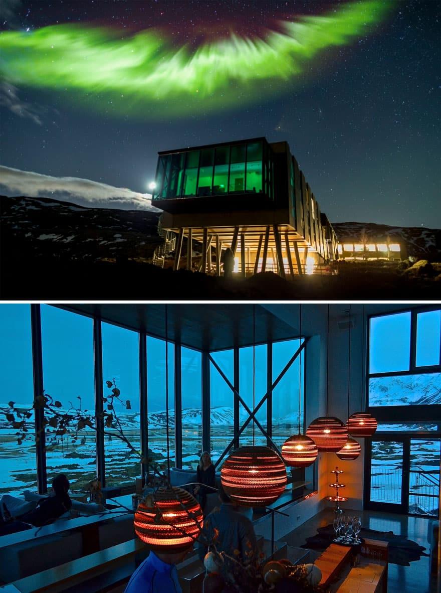 Бар Северного сияния В отеле Ion, Исландия