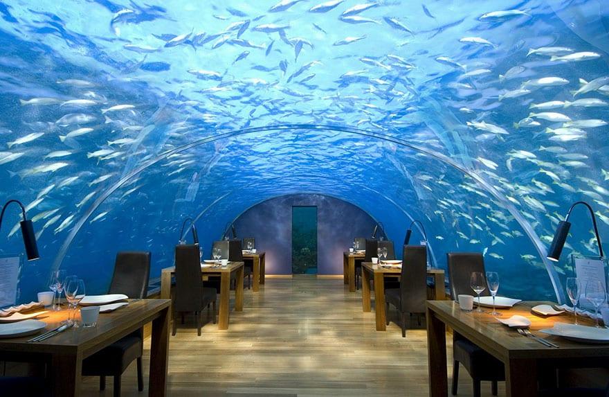 Подводный ресторан Ithaa, Атолл Алифа Даала, Мальдивы