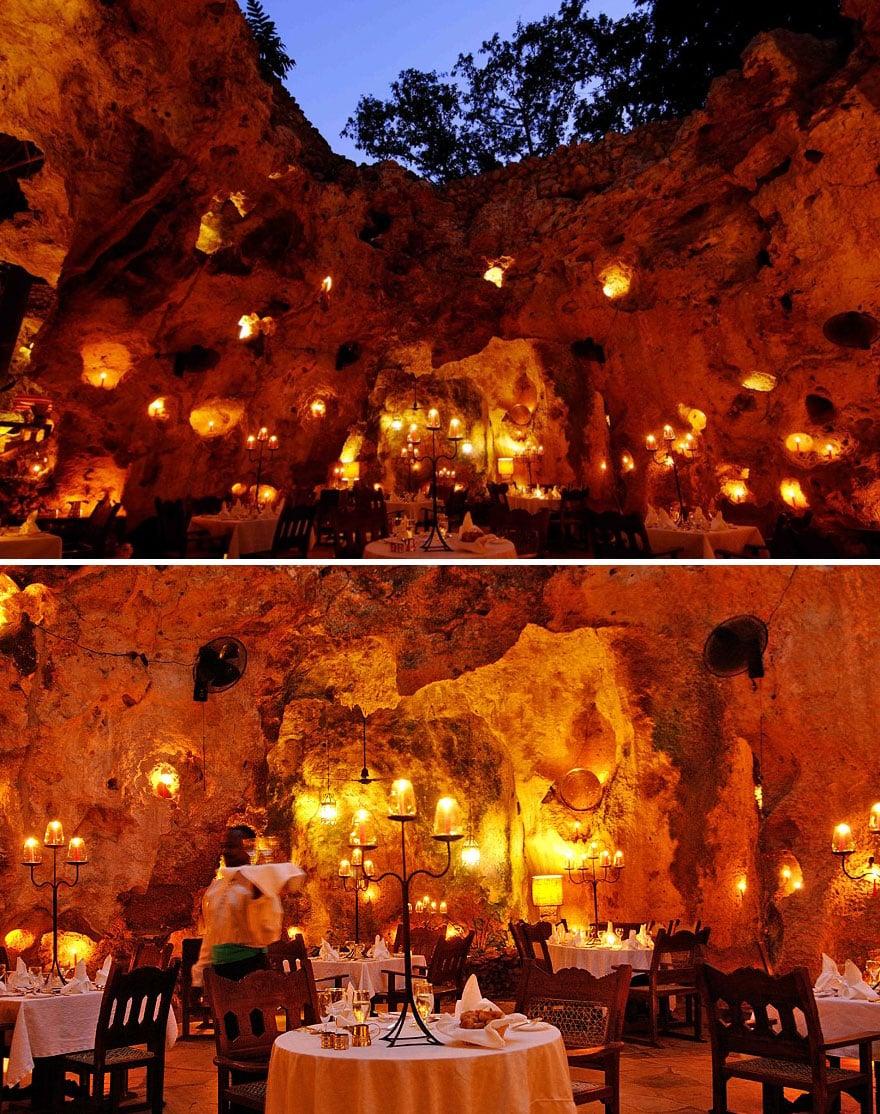 Пещерный ресторан Али Барбура в Кении