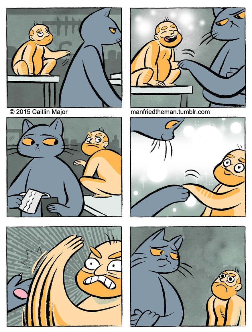 Комикс люди и кошки 10