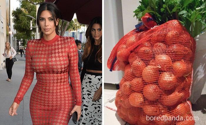 Ким Кардашьян нелепая сетка с луком