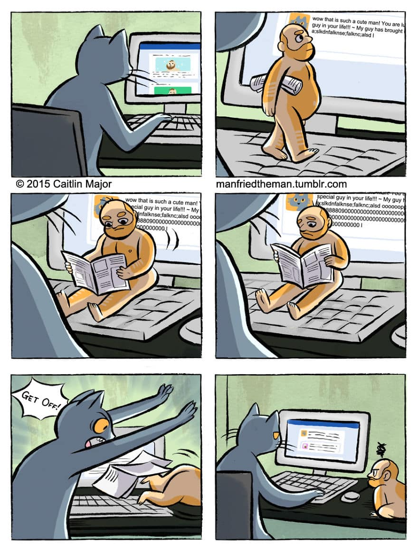 Комикс люди и кошки 4