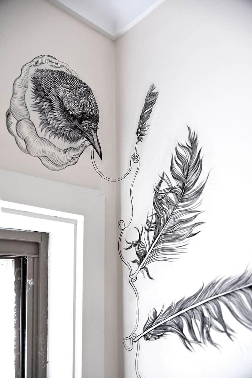 Украшение стен в санузле