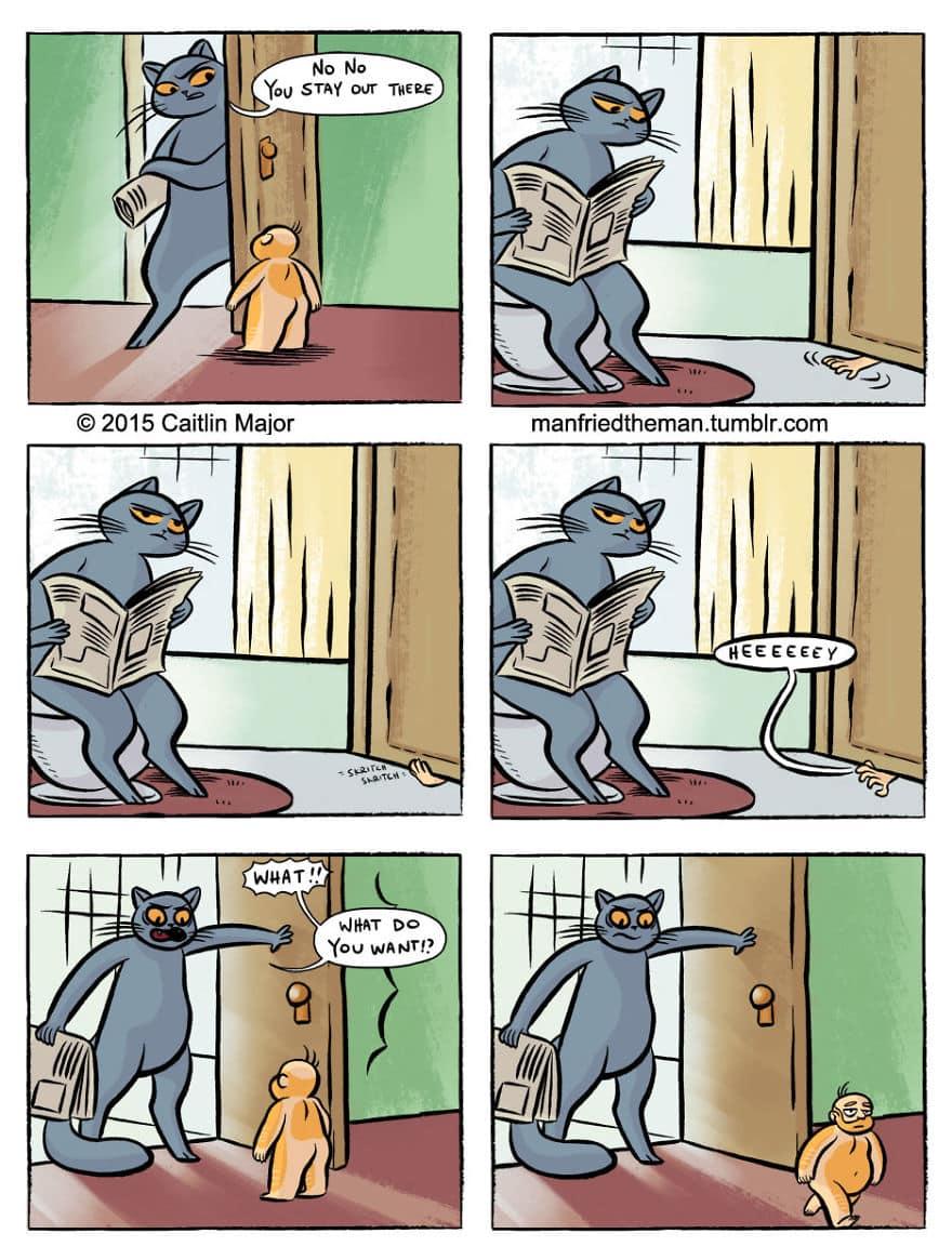 Комикс люди и кошки 6