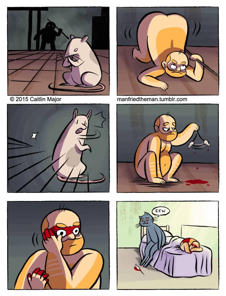 Комикс люди и кошки 7