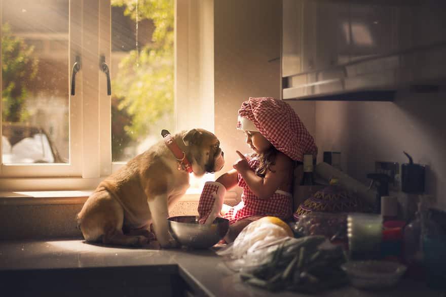 Фотосессия девочка с собакой