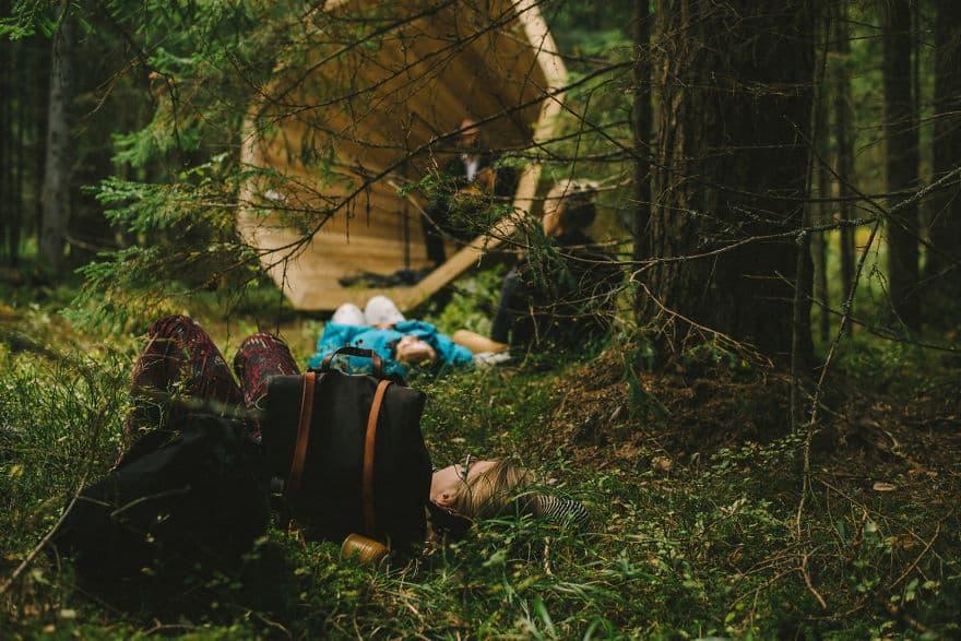 Изучение архитектуры в лесу Эстонии
