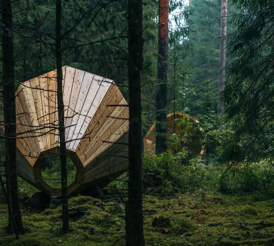 Слуховая воронка в глухом лесу