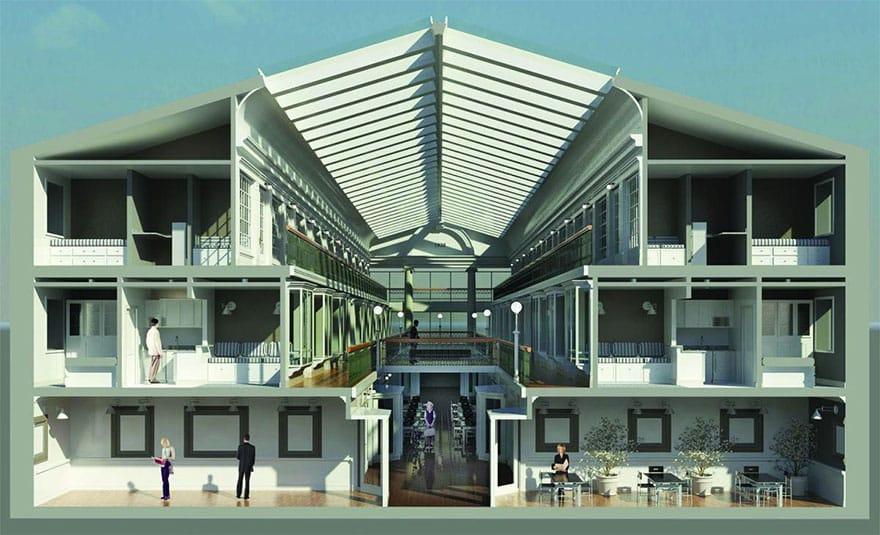 План реконструкции старого здания