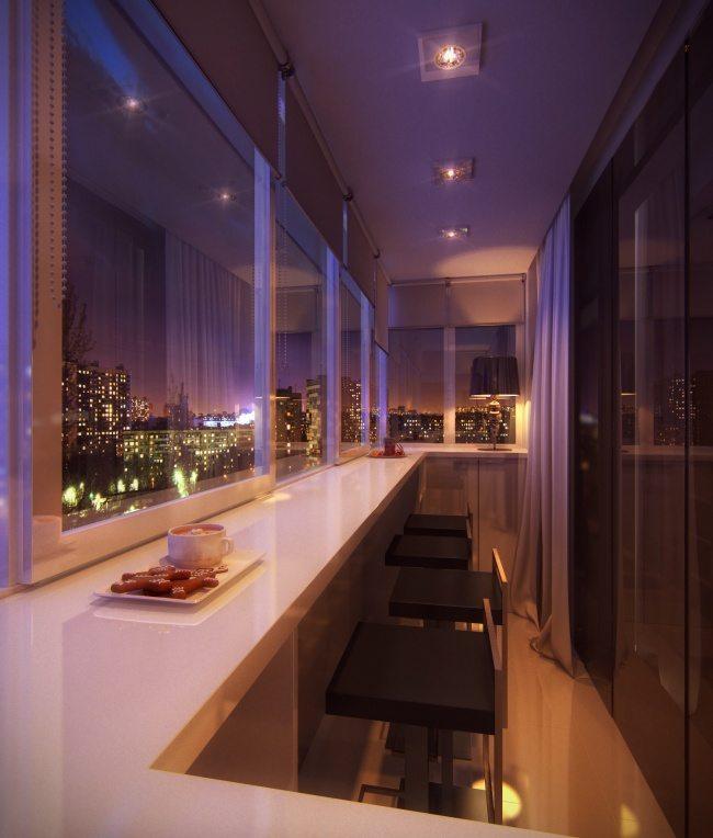 Великолепный дизайн уютного балкона