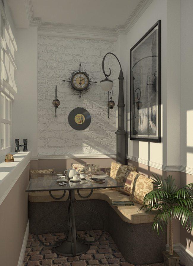 Великолепный дизайн уютного балкона 2