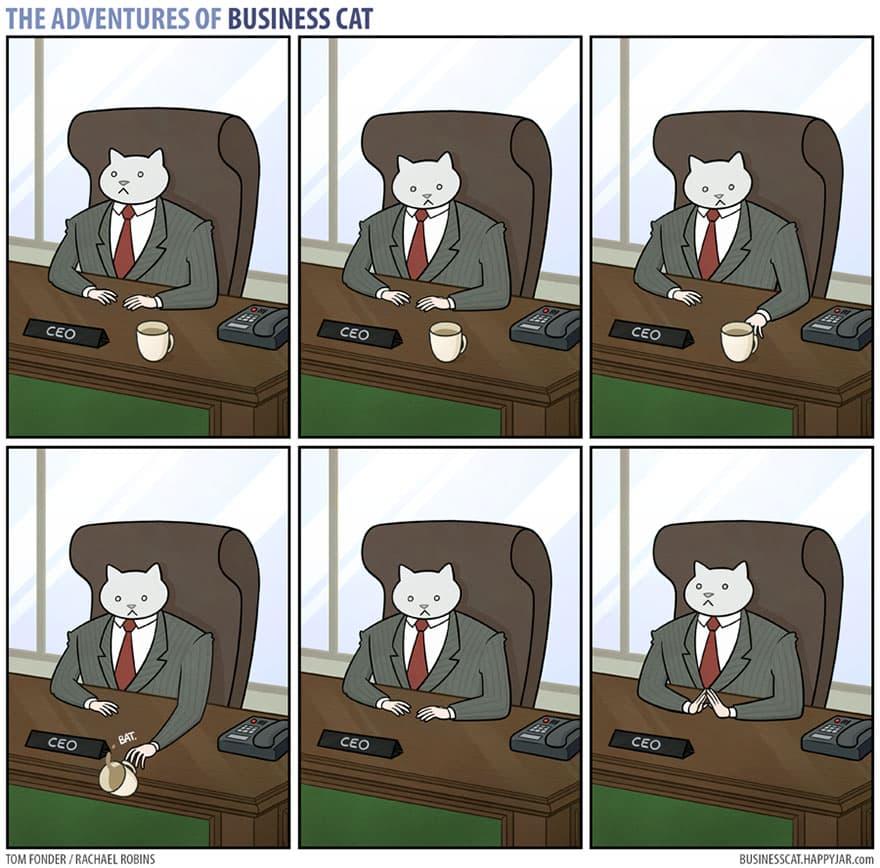 Комикс кот в бизнесе 3