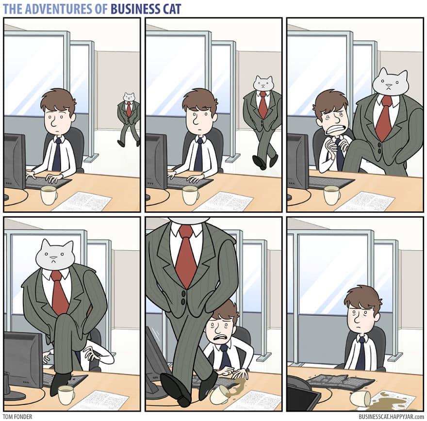 Комикс кот в бизнесе 5