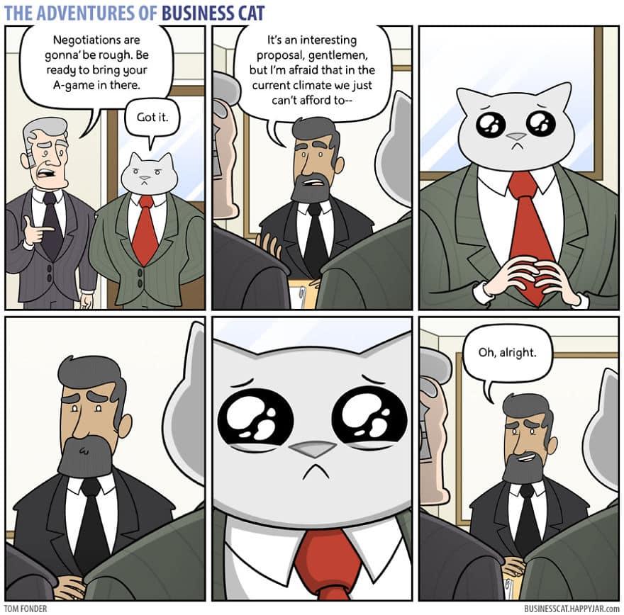Комикс кот в бизнесе 6