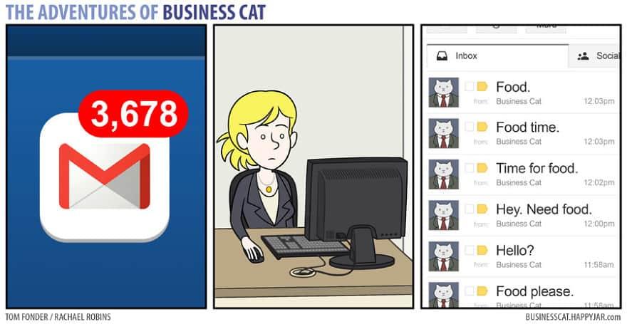 Комикс кот в бизнесе 8
