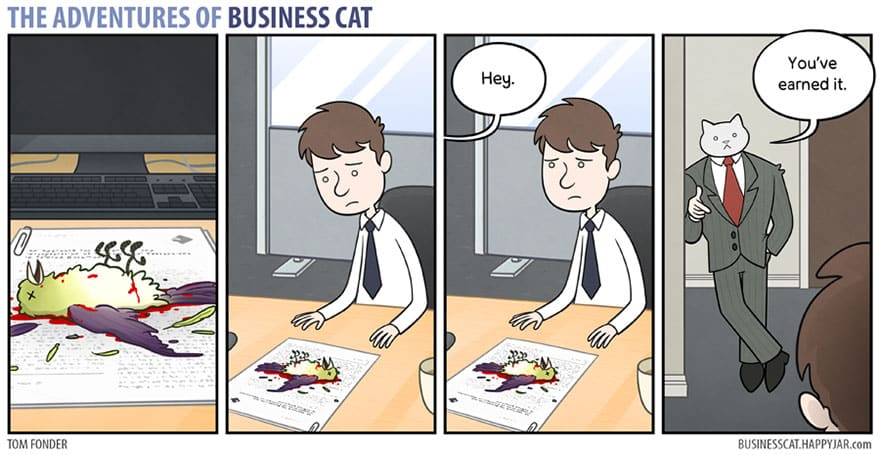 Комикс кот в бизнесе 9