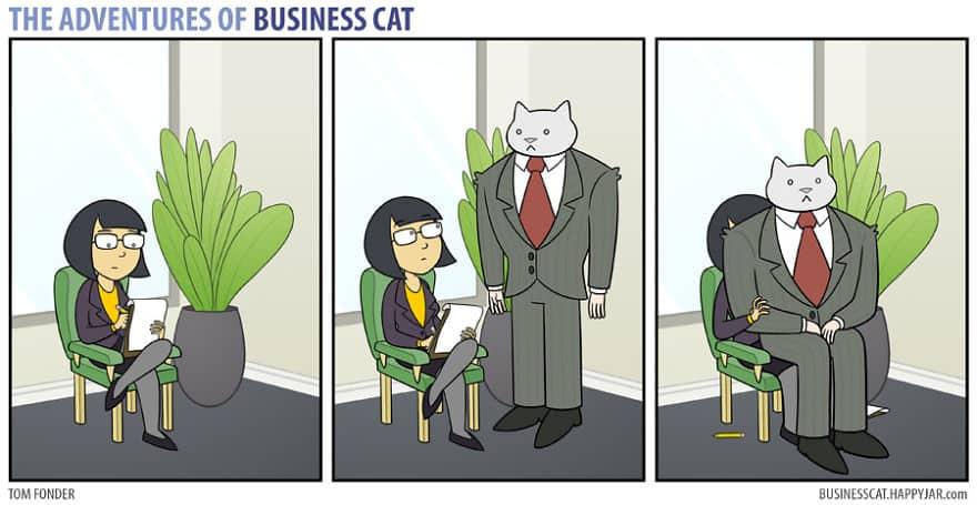 Комикс кот в бизнесе 10