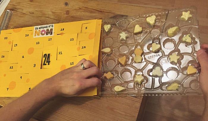 как сделать календарь с сыром