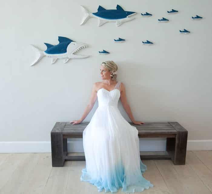 Свадебный наряд для острова влюбленных
