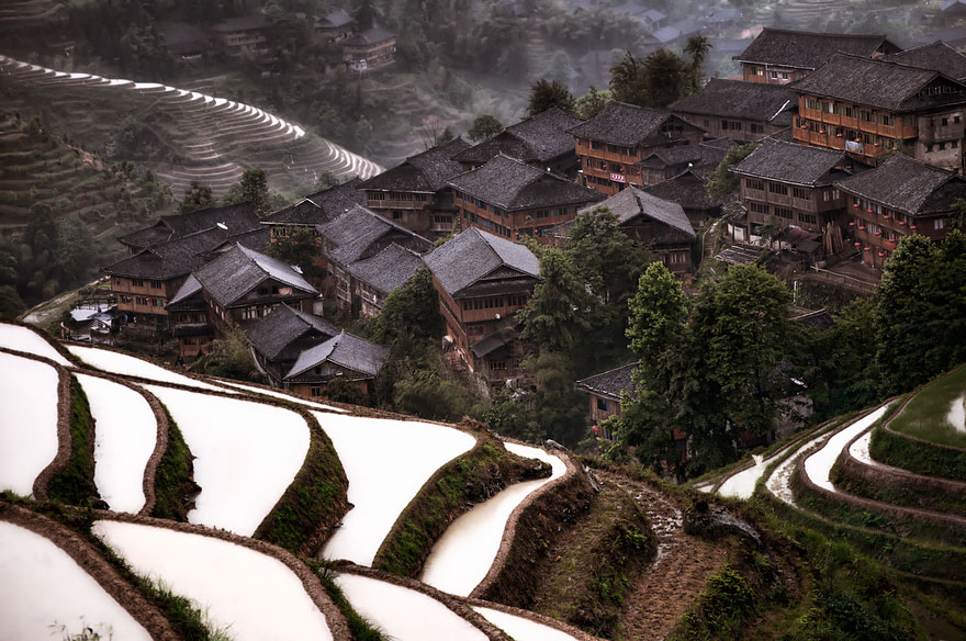 Горная деревня в Китае