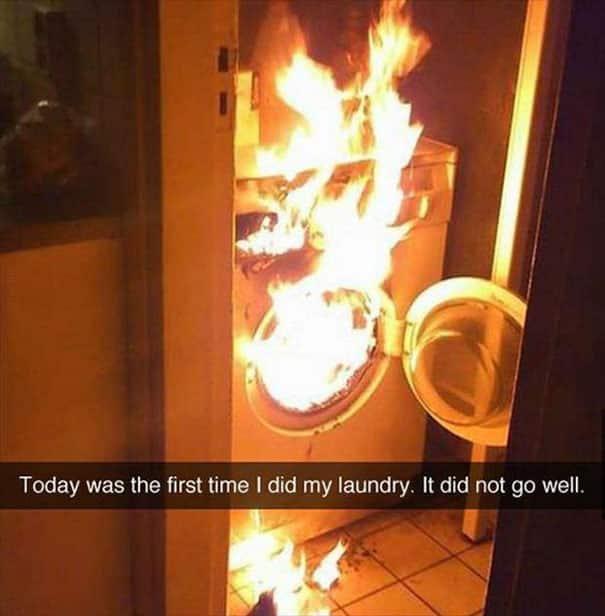 Пожар в стиральной машине