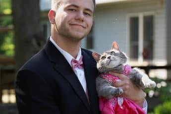 На первое свидание вместе с кошкой