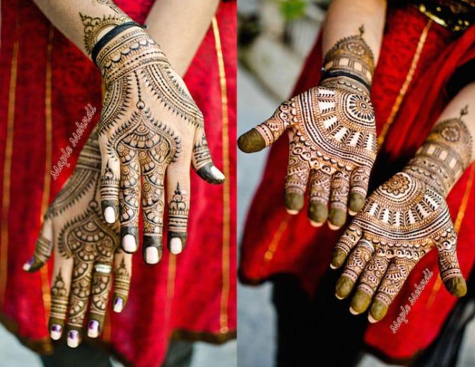 Рисунок хной на женских руках