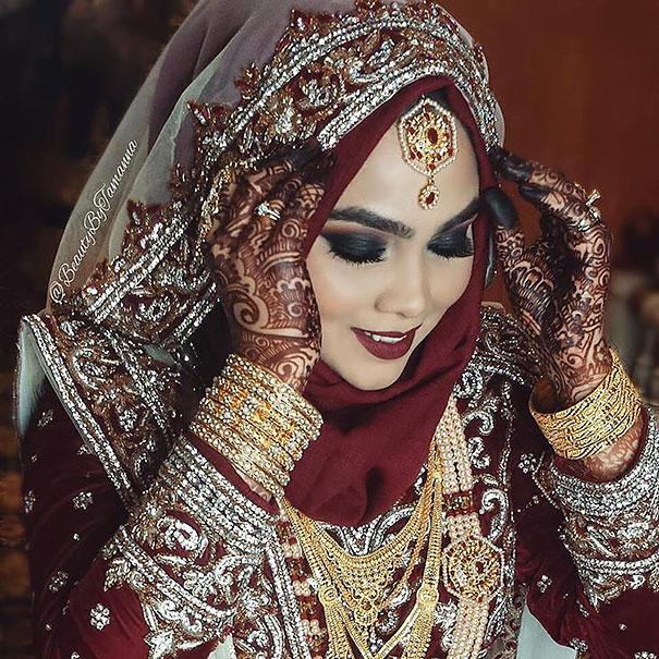 Великолепный наряд невесты на Востоке