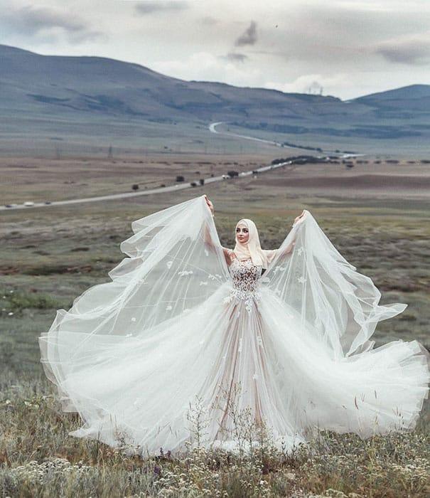 Невеста в свадебном наряде