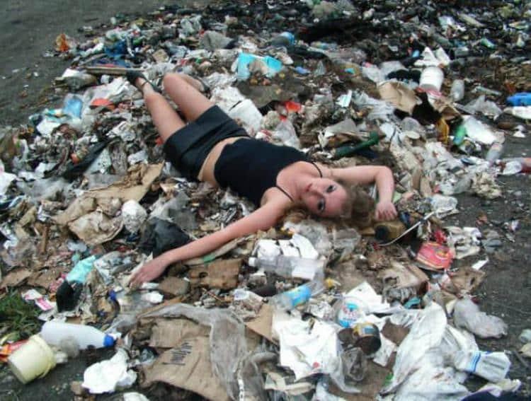 На мусорной куче