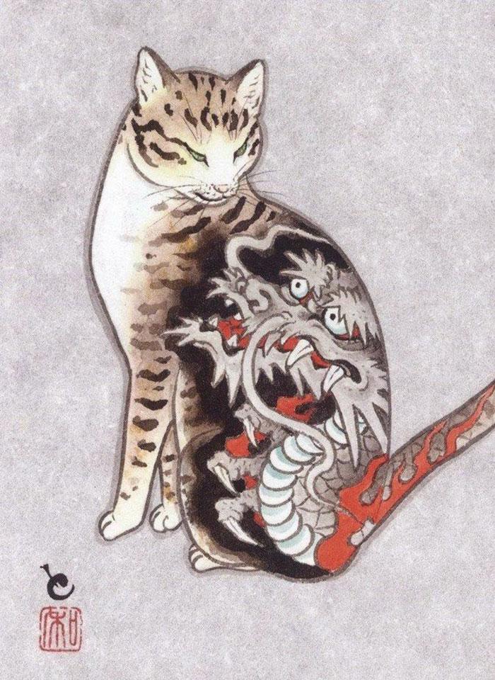 Кошка в японии
