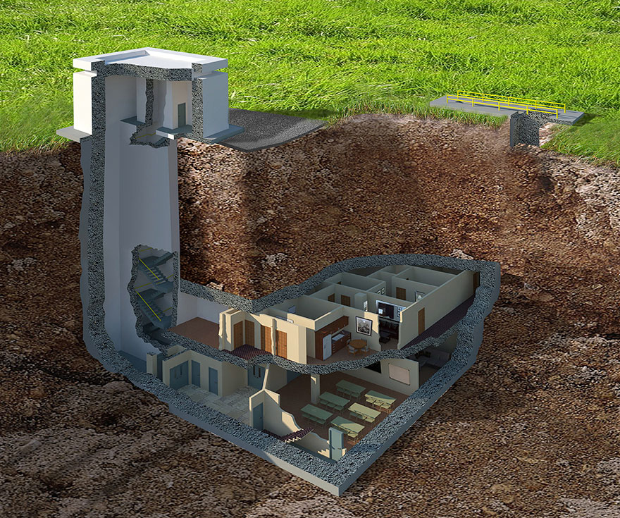 Бункер на случай ядерной войны своими руками 778