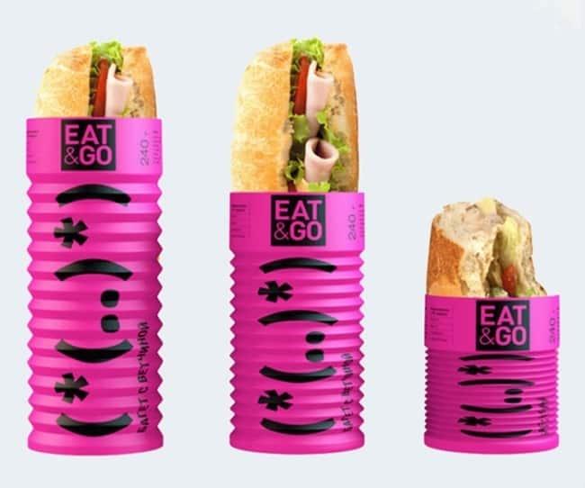 Складывающаяся упаковка для сэндвичей